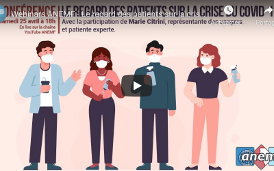 [Visioconférence] Le regard des patients sur la crise du COVID19 – 25 avril 2020 (Replay)